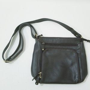 Wilson's Leather Vintage Shoulder Bag Brown